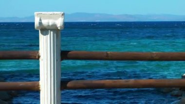 Ancient Marble Stone and Sea — ストックビデオ