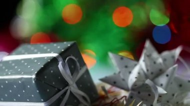 Geschenkkarton — Stockvideo