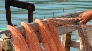 Fishnets Fishing Lines — Stock Video