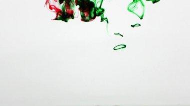 Colorful Paint Ink Drops Splash in Underwater in Water Pool — Stock Video