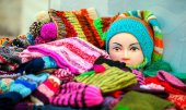 Scarf, Gloves and Dummy — Stock Photo