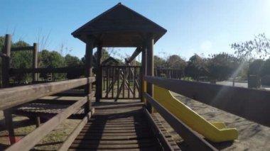 大型木制玩具 — 图库视频影像