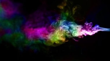 Abstract Fluid Colorful Smoke Element Turbulence — Stock Video