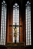 Jesus Sculpture in Frankfurt Dom Cathedral — Stock Photo