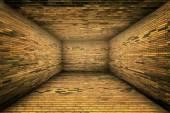 都市の内部のレンガ壁ステージ背景テクスチャ — ストック写真