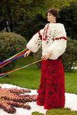 Ukrainian Cossack with ribbons — Stock Photo