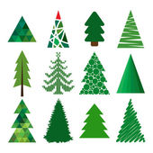 Collection of vector spruce — Stock Vector