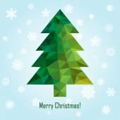 Vector geometric new year tree — Stock Vector