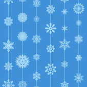 Vector seamless background with snowflakes — Stock Vector