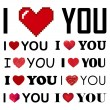 Vector collection of I love you inscreaptions with hearts — Stock Vector #62766187