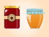 Vector set of jam and honey — Stock Vector
