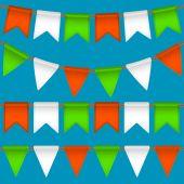 Vector flag garland — Stock Vector