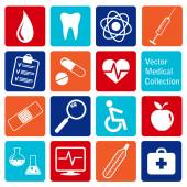 Vector collection of medical icons — Stock Vector