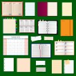 Collection of vector notebooks — Stock Vector #64401335