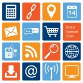 Vector collection: internet icons — Stock Vector
