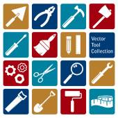 Vector collection of tool icons — Stock vektor