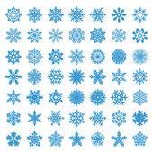 Set of vector snowflakes — Stock Vector
