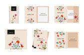 Brand identity florals retro — Stockvektor
