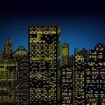 Cityscape and magic phenomenon — Stock Vector #52417873