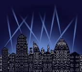 Stadt bei nacht — Stockvektor