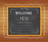 Welcome written on chalkboard — Stock Vector
