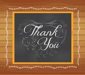 谢谢你写在黑板上 — 图库矢量图片