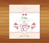 Ornate frame wedding invitation floral retro — Wektor stockowy