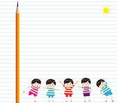 Okul çocuk arka plan — Stok Vektör