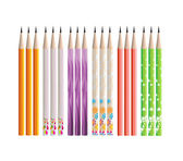 Pencils painted in different colors on white background — Stock vektor