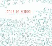 Geri okul arka plana — Stok Vektör