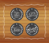Chalkboard christmas gift tags hand drawn vintage — Wektor stockowy