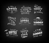 Set Of Vintage Retro Summer Labels — Stock Vector