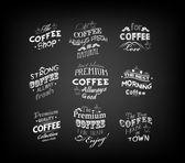 Set Of Vintage Retro Coffee Labels — Stock Vector