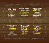 Set of special sale offer labels — Vecteur