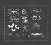 Décorations d'halloween — Vecteur