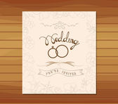 Wedding invitation floral retro — Wektor stockowy