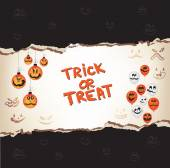 Halloween trick or treat Papier — Stockvektor