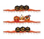 Elementos de diseño de las calabazas de Halloween — Vector de stock