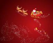Tarjeta de navidad con santa claus — Vector de stock
