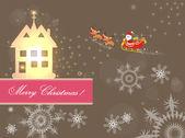 Feliz navidad tarjeta fondo — Vector de stock