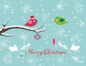 Feliz navidad tarjeta — Vector de stock