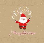 Feliz navidad con santa claus — Vector de stock