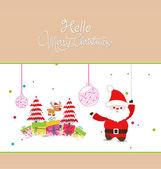 Hello Christmas — Stock Vector