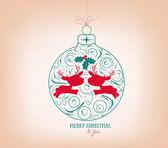 Merry christmas ornament — Stock Vector