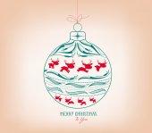 Feliz navidad ornamento — Vector de stock