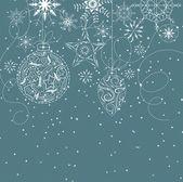 Fondo de navidad retro — Vector de stock