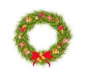 Guirnalda decorativa de la navidad — Vector de stock