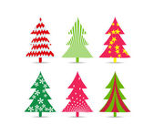 Set of christmas trees for design — ストックベクタ