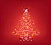 圣诞节树背景 — 图库矢量图片