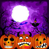 Halloween pumpkin background — Stock Vector